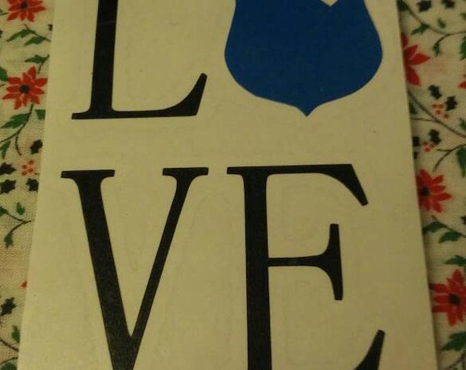 Love Law Enforcement Badge Vinyl Decal