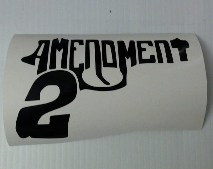 FLASH SALE! BLACK Second Amendment Gun Vinyl Decal