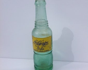 Vintage Nu Grape Soda Bottle