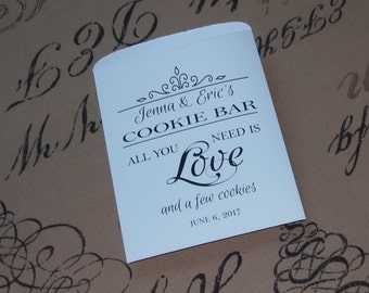 Wedding Cookie Bags Personalized Cookie Bar Bags
