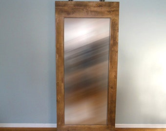 Industrial Rustic Leaning Mirror