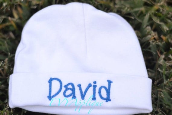 Personalized baby boy newborn hospital hat - newborn knit beanie hat boy personalized, monogrammed baby hat, personalized infant hat