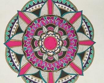 Colorful Mandala - 9x12
