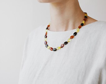 Multicolor necklace / Amber necklace