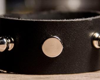 Small black spiked bracelet