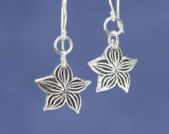 Artisan Sterling Silver Flower Earrings – Calieri