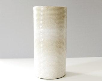 Large Zanesville Stoneage Pottery Vase Mid Century Modern