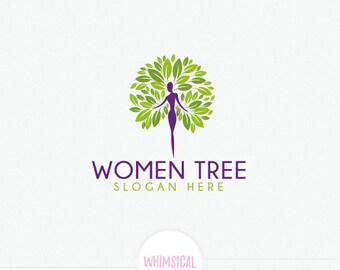 The lady tree Logo - Feminine health Logo - peace and health lifestyle