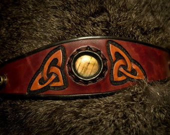 Celtic Knot-Work & Labradorite Cuff
