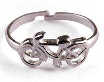Womens Ring - 462 - bicycle ring, bike ring, bicycle jewelry, bike jewelry, riding ring, travel ring, love ring, sport ring, mens ring
