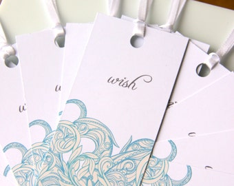 Summer Wedding Wish Tags, Wedding Wish Tags, Wish Tree Tags, Wedding Favor Tags