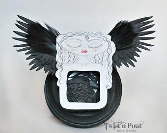 Raven Girl Altered tin