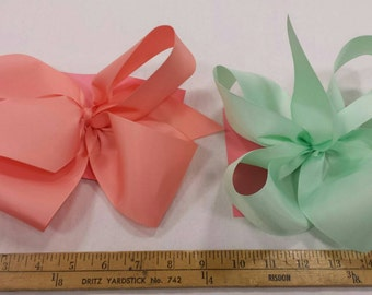 Jumbo Coral or Mint Bow