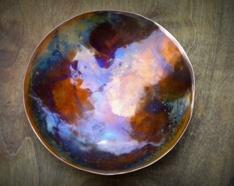 Hammered Copper Bowl * Copper Anniversary Gifts * Gift for Men * 7th Anniversary Gift * 7 Year Anniversary Gifts for Women * Copper Items