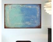 Abstract Painting, Canvas Wall art,ONCE TURQUOISE 456 On canvas, Original, Landscape, Abstract Painting, Modern Art,Ronald Hunter, walldecor