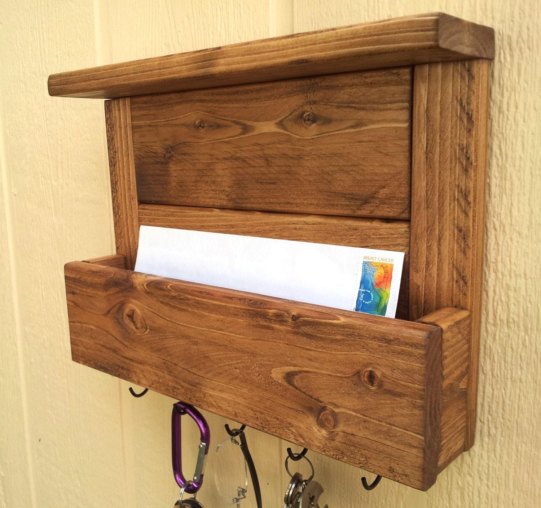 Mail organizer and key rack with top shelf key by cedaroaks - Mail holder and key rack ...
