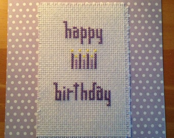 HappyBirthday Cross Stitch Card
