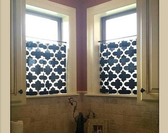 Cafe Curtain Moroccan Fabric, Curtains, Trellis, Kitchen Curtains, Window Treatments, Nusery Decor, Bathroom Curtain