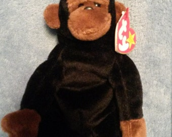 1996 TY Congo Beanie Baby Monkey made with PE pellets