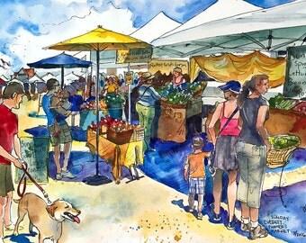 Farmer's Market  /// Sketchy Everett Series