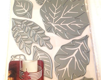 Cricut Cuttlebug Cut & Emboss Dies  SEASONAL FOLIAGE  cutting dies by Cricut  1.cc52