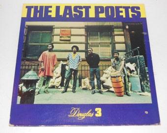 """The Last Poets Jazz Poetry Douglas 3 12"""" Vinyl Record LP"""
