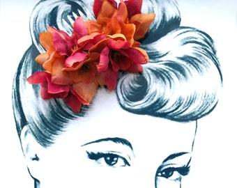 Delicious Delphinium Hair Comb Vintage Pinup