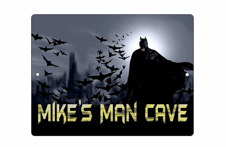 Large Personalized Man Cave Signs : Custom batman metal sign personalized man cave by coltonsplace