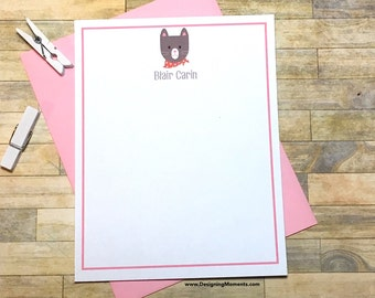 Cat Note Cards - Kitten Stationery - Cat Thank You Cads - Kids Stationary - Thank You Cards - Personalized Stationery - Custom Cards DM181