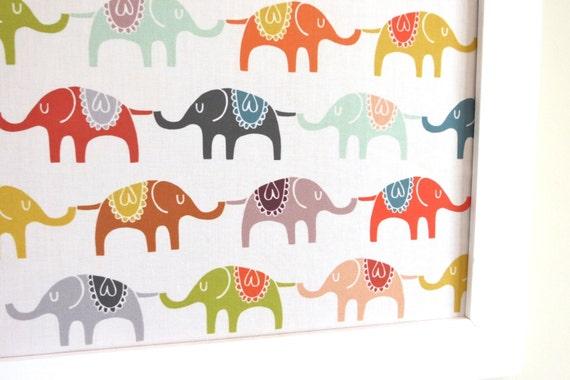 Elephants Pin Board Jewelry Board Wall Hanging