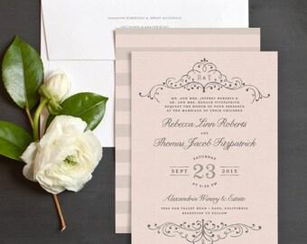 Elegant Flourish Wedding Invitation Sample