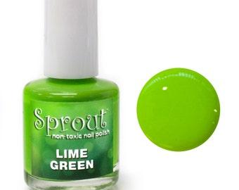 Sprout Non Toxic Lime Green Single Polish