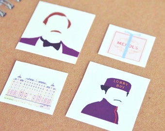 The Grand Budapest Hotel Stickers