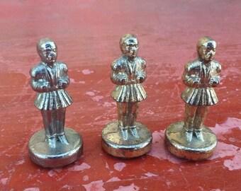 Vintage miniature Greek soldier, Evzones, Tsolias, soldier statue, Greek dollhouse prop, Greek theme diorama, (61/koyt4)