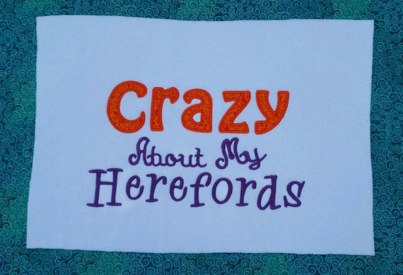 Embroidered t-shirt - custom t-shirt Crazy about my Herefords - Hereford cattle shirt -livestock tshirt