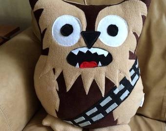 Chewbacca Owl Pillow- Star Wars plush Owl- Chewbacca Plush- Chewbacca Pillow- Owls