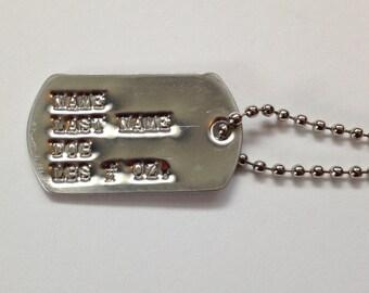 Custom Mini Military Dog tag