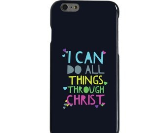 Hard Snap-On Case for Apple 5 5S SE 6 6S 7 Plus - CUSTOM Monogram - Any Colors - All Things Through Christ