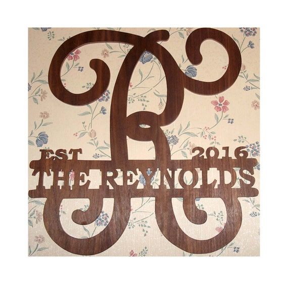 Rustic Monogram Wall Decor : Monogram wall hanging decor rustic