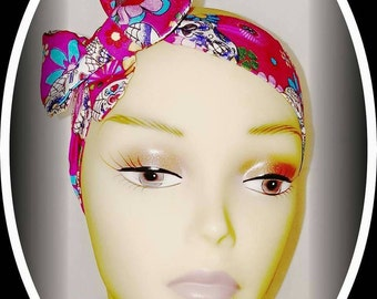 Sugar Skull hair wrap