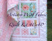 Best Selling--WARM MEADOW Quilt KIT Dena Designs--Cottage Chic--40x40