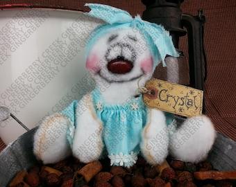 Crystal the Snowgirl Pattern #156 - Primitive Doll/Ornie Pattern