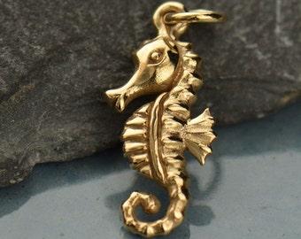 Natural Bronze Seahorse Charm-Ocean-Sea-Beach