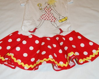 Twirly Red and White Polka Dot Dress
