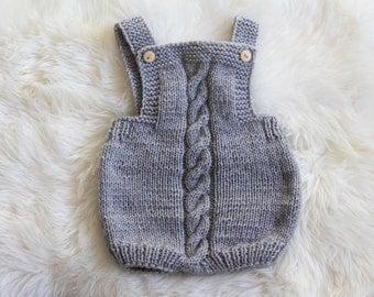 Grey Handknit Jumper
