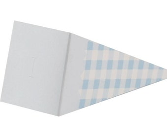 cardboard boxes in blue cone for baptism or birth 11.5 cm.