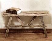 Rustic Bench - Scandinavian bench - Reclaimed wood bench - Barn wood