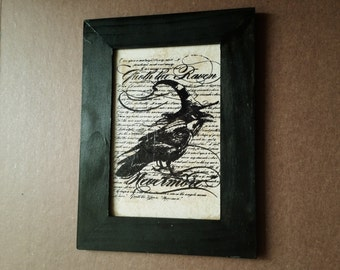 Nevermore Raven Wall Art | Edgar Allen Poe-Inspired Wall Art