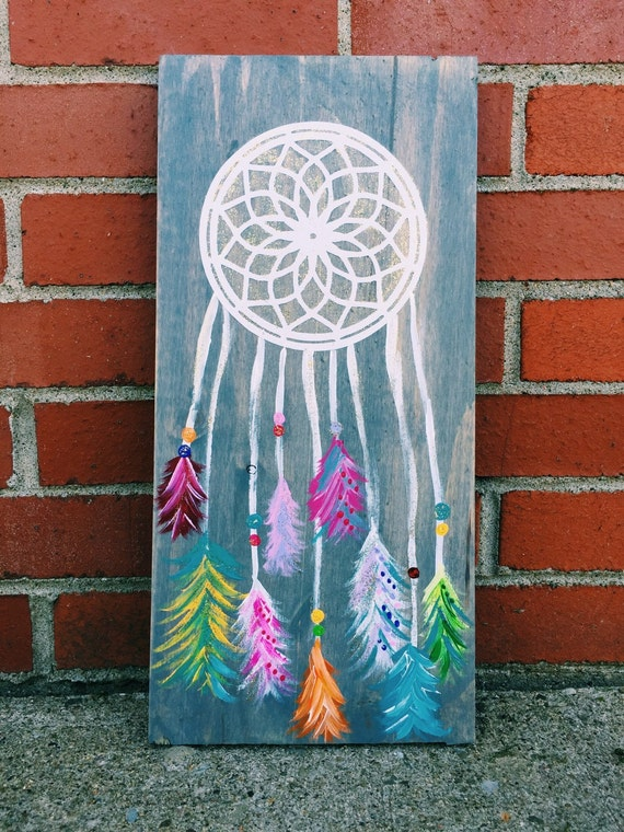 Dream Wood Wall Decor : Items similar to dream catcher wooden wall sign rustic