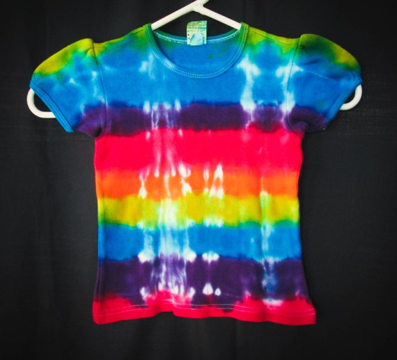 Hand Dyed Toddler Rainbow Tie Dye Shirt